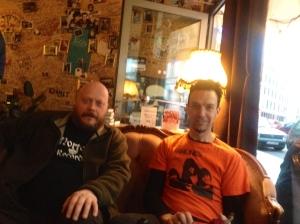 "Professor Jonas Bjälesjö and mighty captain of the ship Darren ""Graveman"" Ward."